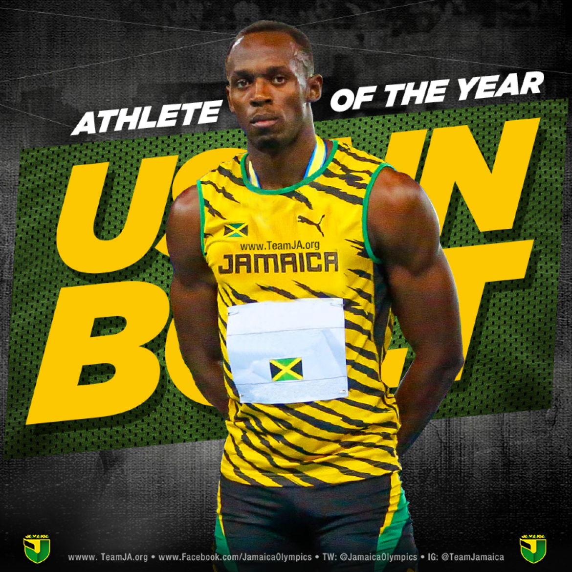 Usain Bolt wins Male Athlete of the Year