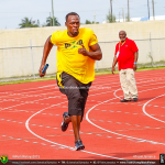 Usain Bolt during training session in Nassau Bahamas for 2015 IAAF World Relays